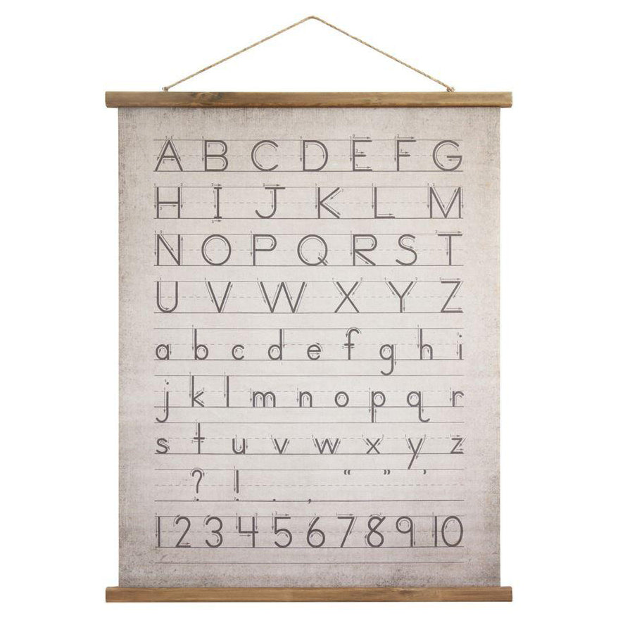 ABCs Hanging Canvas