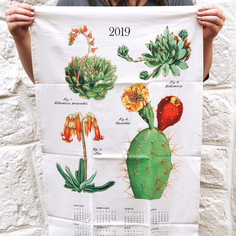 Vintage-Inspired Natural Cotton Tea Towel