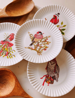 Load image into Gallery viewer, Mini Christmas Bird Plate