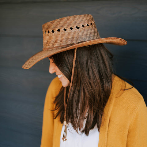 Woven Garden Hat - Outback Lattice
