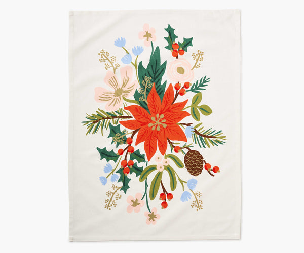 Rifle Paper Holiday Tea Towel