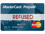 Prepaid credit card refused