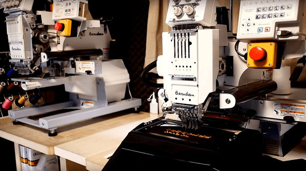 Embroidery machines at Seido