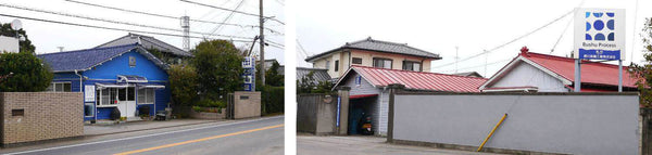 On the left: Sewing workshop and office, on the right: Indigo dye workshop