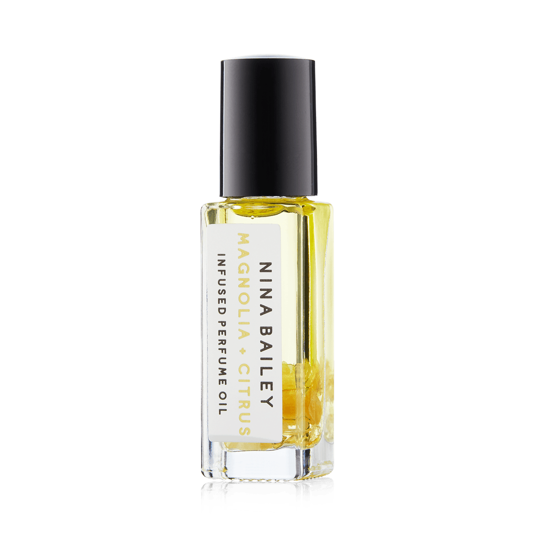 Citrus & Magnolia Crystal Infused Perfume OIl - Nina Bailey