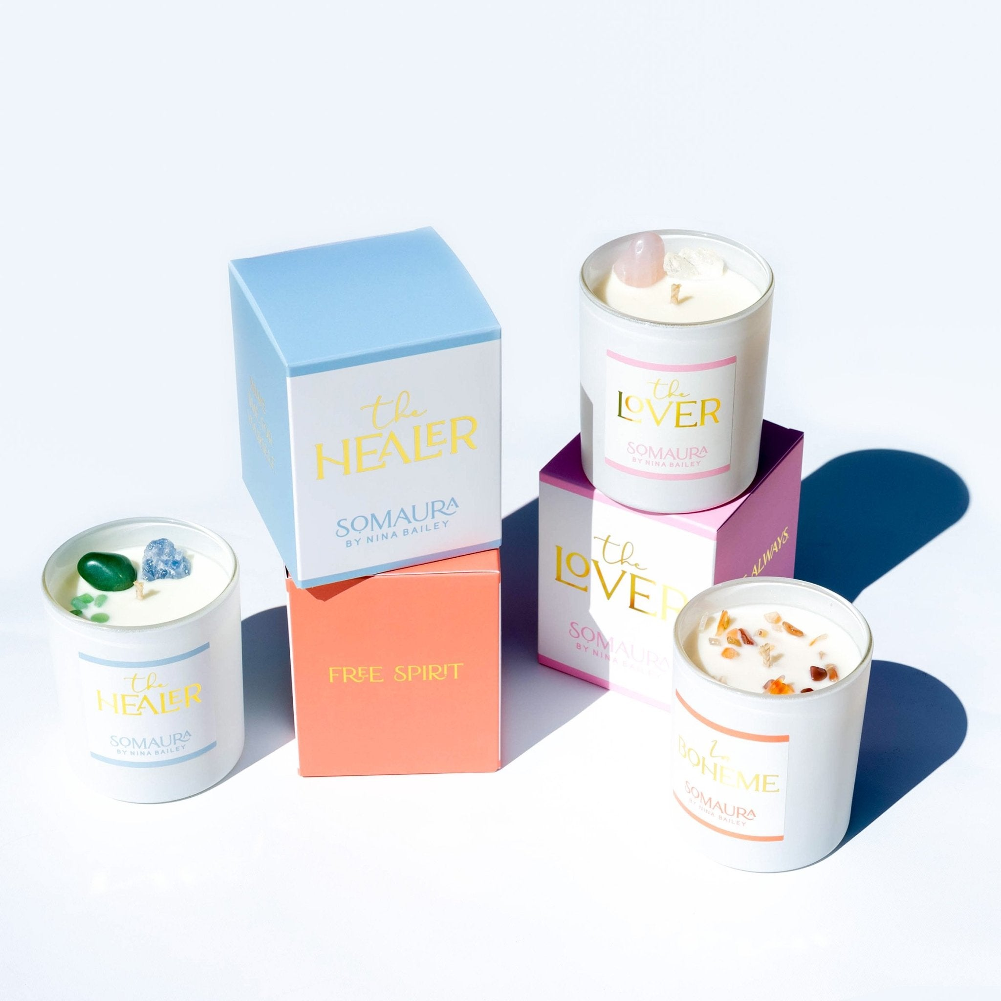 The Healer Crystal Soy Candle - Nina Bailey