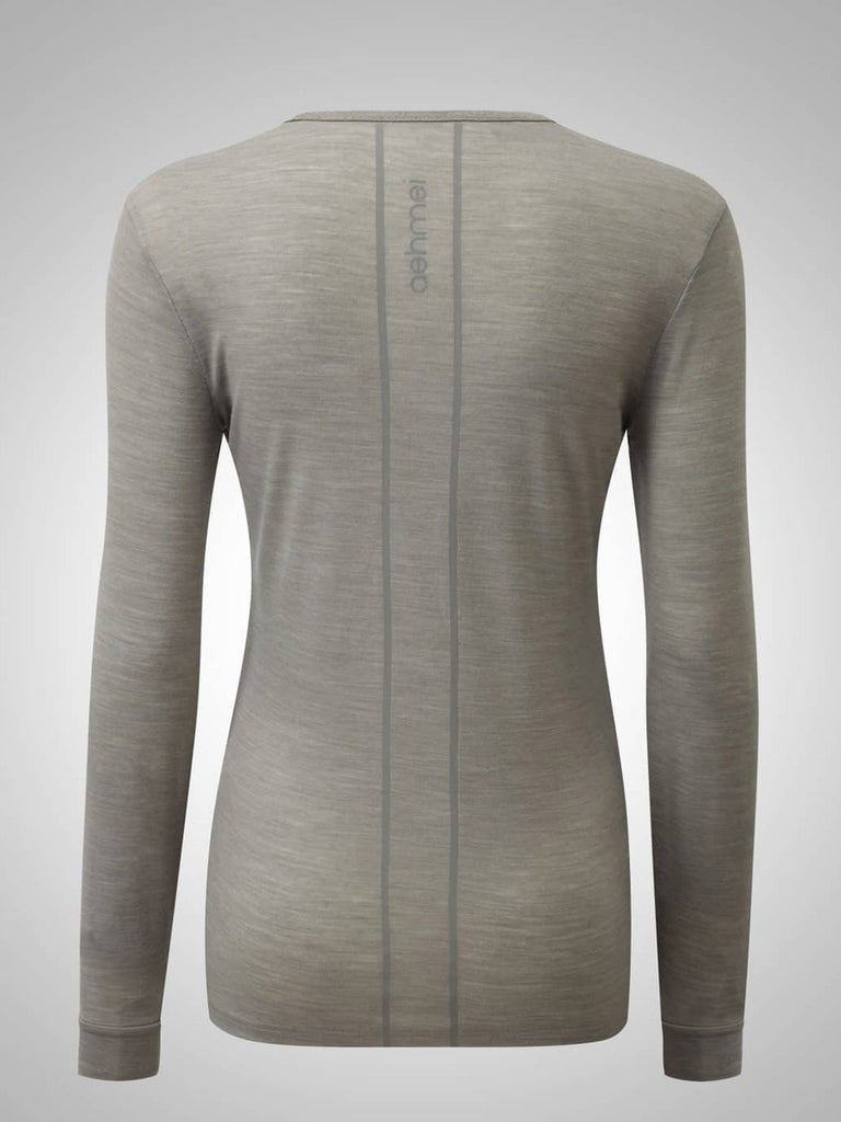 Ashmei Women's Merino Long Sleeve Baselayer, hellgrau - Kaufen bei Maison Cyclo