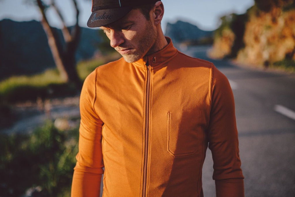 Isadore Long Sleeve Jersey, orange - Kaufen bei Maison Cyclo
