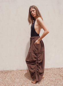 Statement Pants in Chocolate