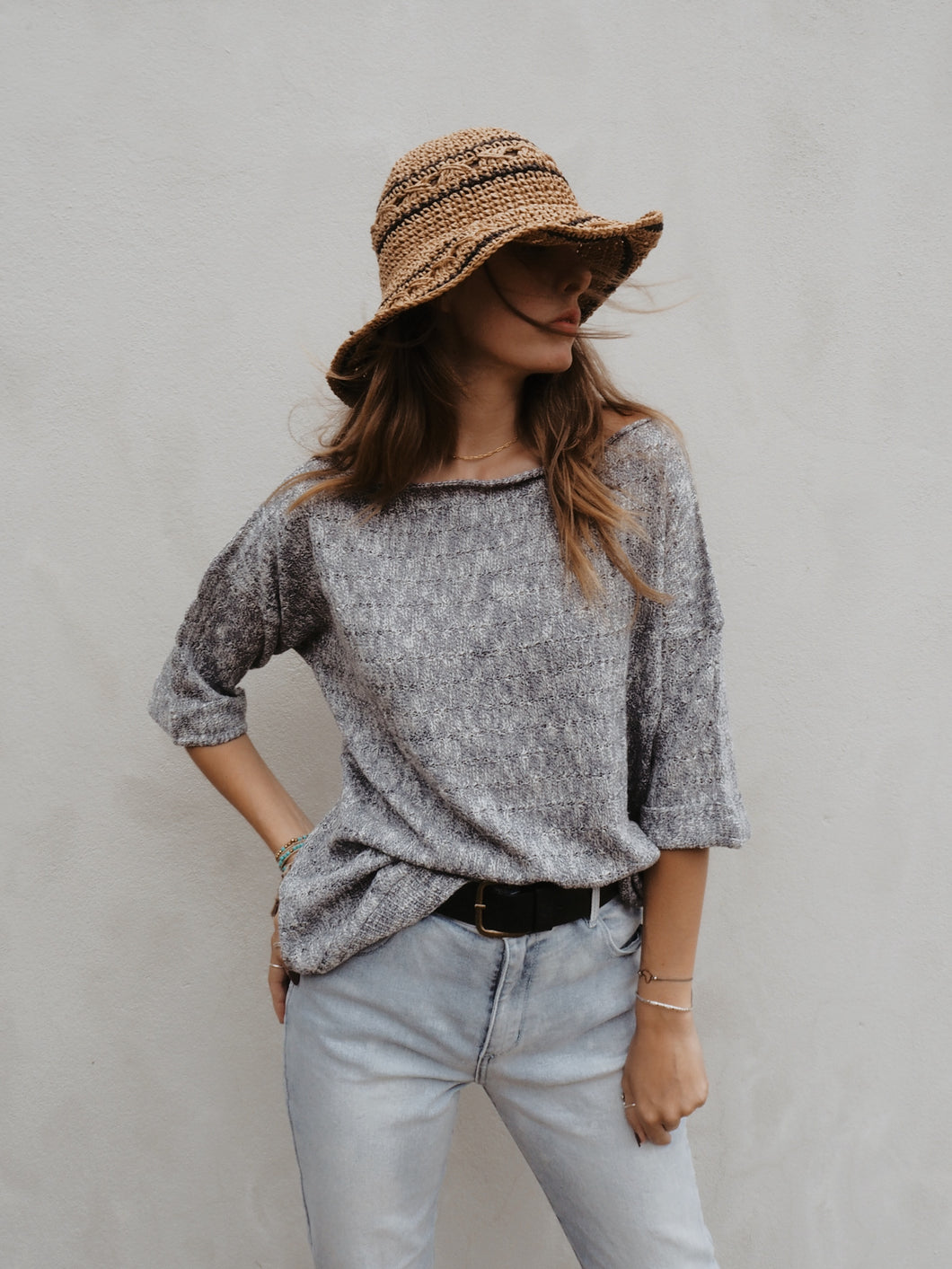 Smokey blue knit