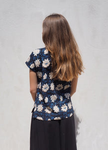 Print and Stitch Shirt: Blue Floral