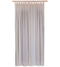 Load image into Gallery viewer, White on White Printed Cotton Curtain