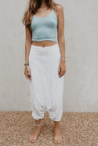 Turkish pants: white