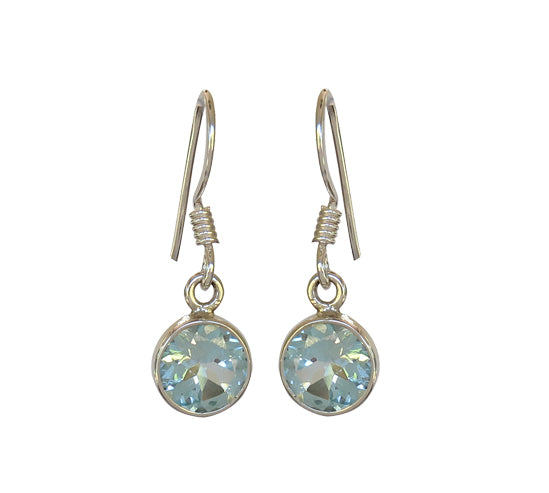 Sterling Silver Blue Topaz Earrings