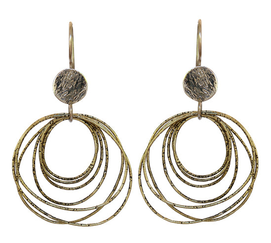 Sterling Silver Earrings with Brass Plating