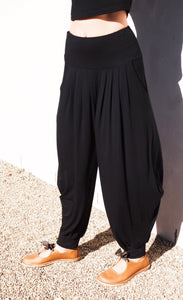 The original comfy harem pants available in BLACK and  NAVY