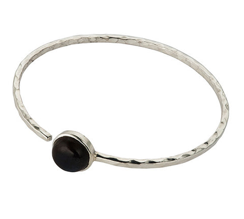 Sterling Silver Labradorite Bangle