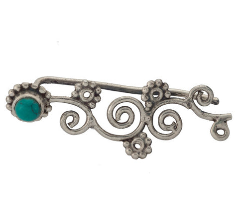Sterling Silver Turquoise Ear Cuff