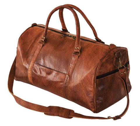 Moroccan Leather Sports Bag