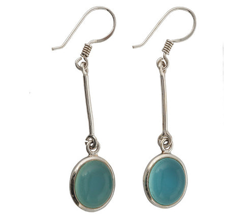 Sterling Silver Chalcedony Earrings