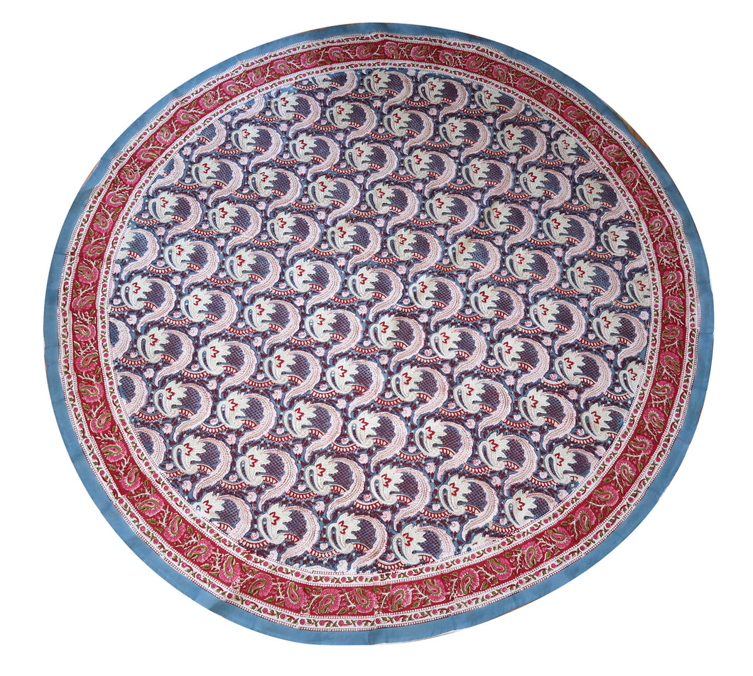 Block Print Table Cloth Round