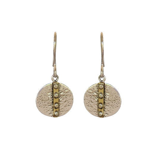 Sterling Silver, with Brass Earrings