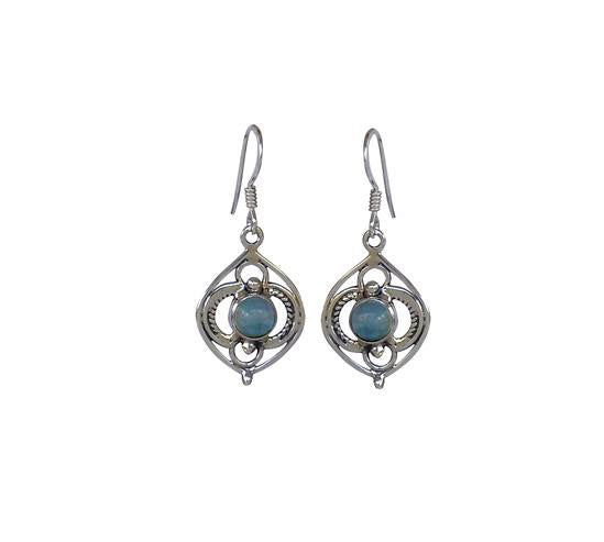 Sterling Silver Apatite Earrings