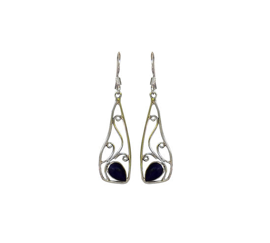 Sterling Silver Lapiz Lazuli Earrings