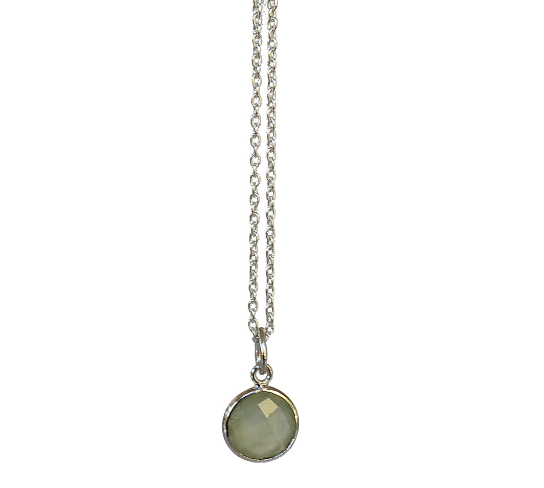 Sterling Silver Prehnite Necklace