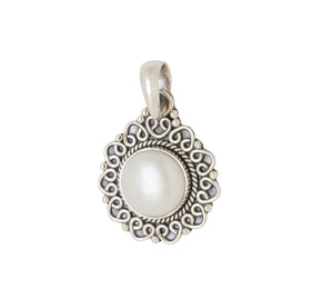 Sterling Silver Pearl Pendant