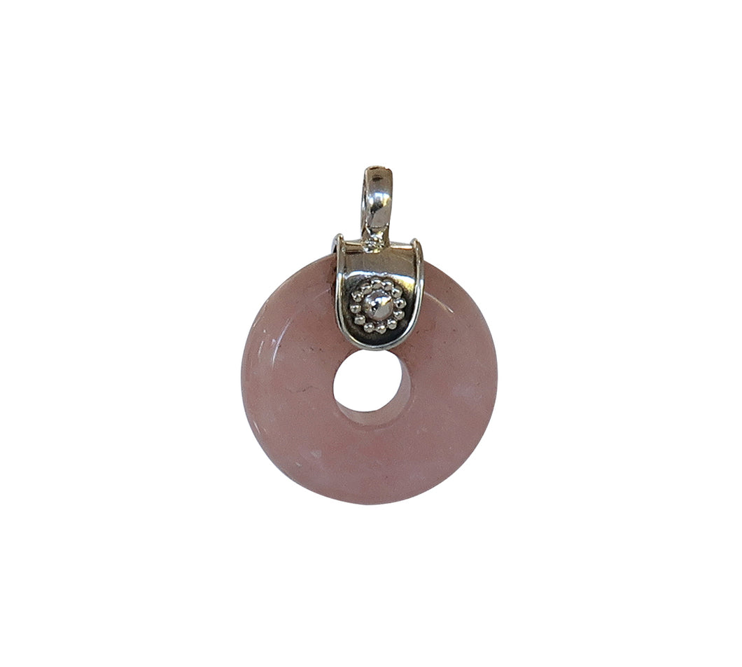 Sterling Silver Rose Quartz Pendant