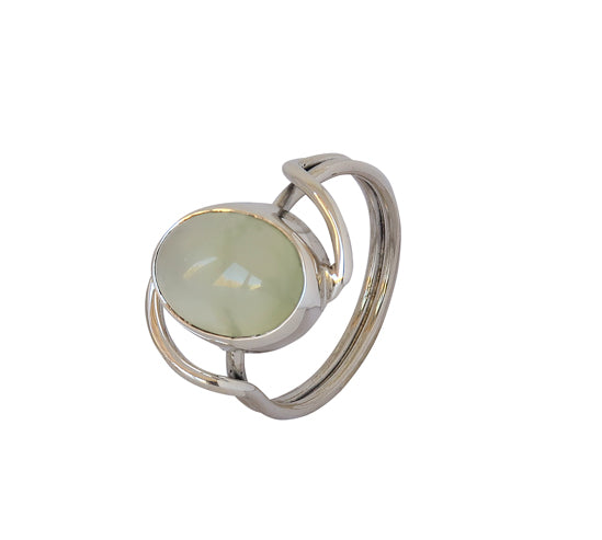 Sterling Silver Prehnite Ring
