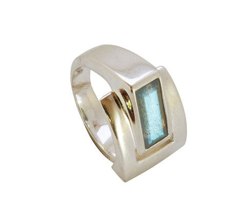 Sterling Silver Labradorite Ring