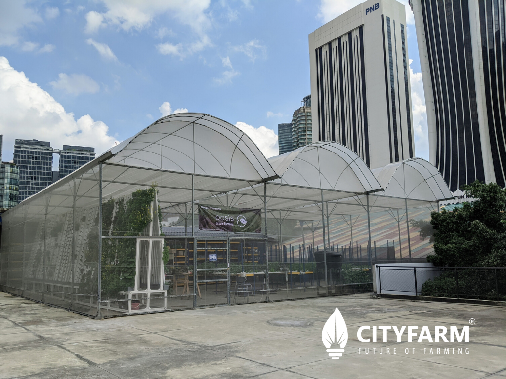 Oasis Urban Farming @rooftop The LINC KL