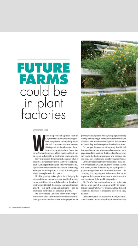 [The Edge Malaysia] Future Farm Could Be In Plant Factories