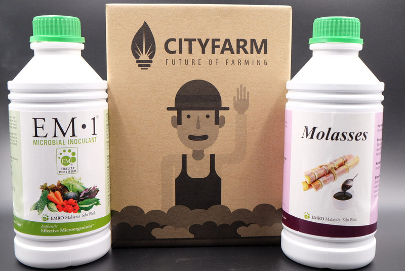EM-1 Microbial Inoculant + Molasses (EMAS Kit) - CityFarm