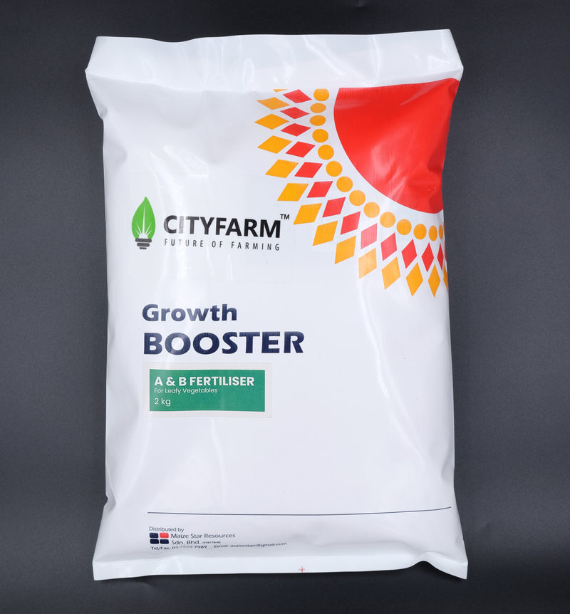 2kg Hydroponics A & B Solid Fertilizer (For Leafy Greens) - CityFarm