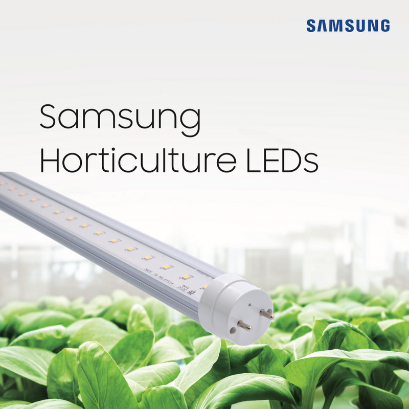 (New 2020 Model - Samsung LED Diodes) 4 Feet CityFarm Horticulture Full Spectrum LED T8 Growlight