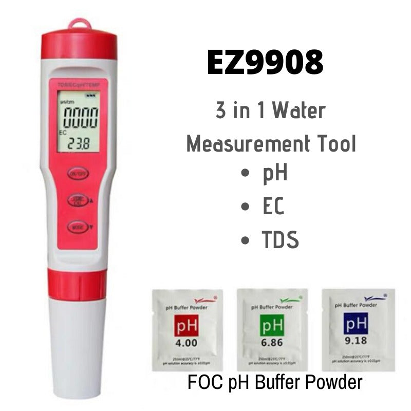 3in1 TDS,EC & PH Tester (EZ9908) - CityFarm
