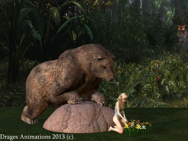 Second Meal After Sleep-Bear&Girl - Vore Animation - Mercilessnature