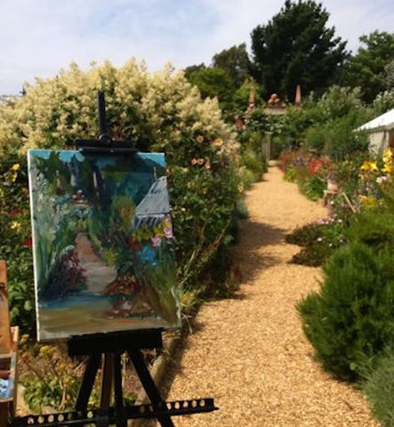 Oil Demonstration East Ruston Vicarage Garden Linda H Matthews