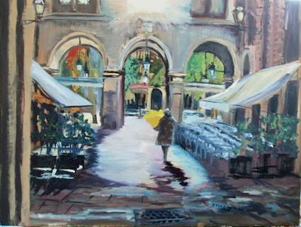 """January Light Barcelona"" - Oil"