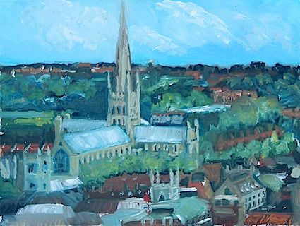 """Norwich Cathedral"" Oil"