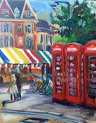 """Cambridge Market Square"" - Oil"