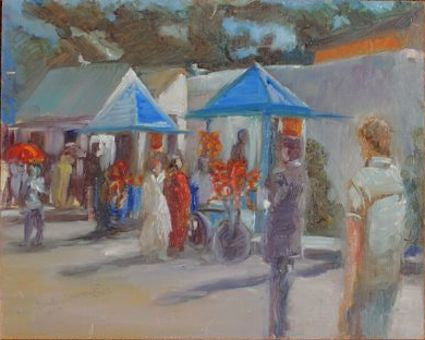 """Orange Sellers - Essaouira Maroc"" -Oil"
