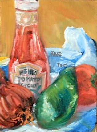 """Kitchen Still Life"" - Oil"