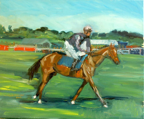 Racing at Fakenham - Oil