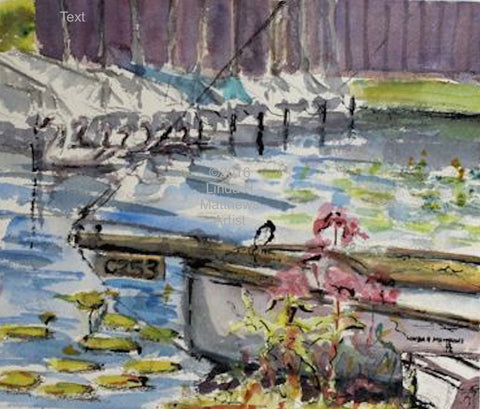 C253 - Cox's Boatyard Barton Turf - Watercolour & Ink