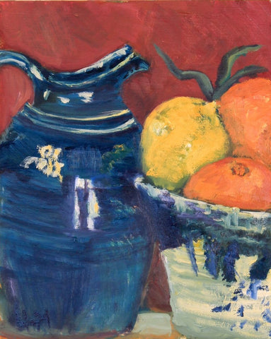 """Bleu et Citron, Nature Morte""  Oil"