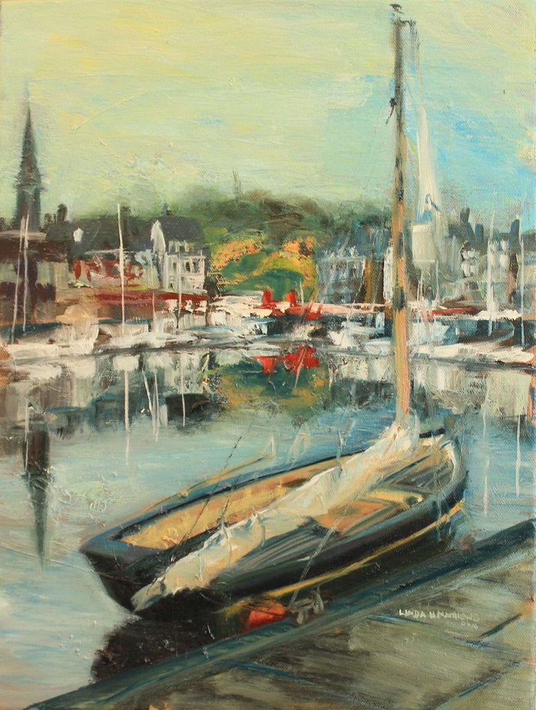 Honfleur Harbour - Oil Painting